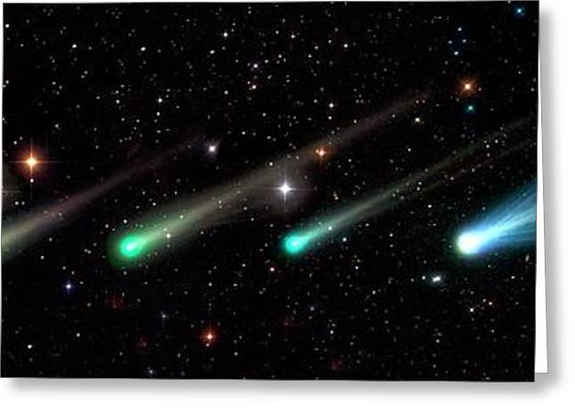 Comet Ison Greeting Card by Damian Peach