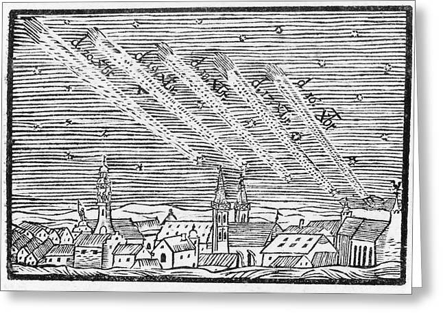 Comet Of 1680 Greeting Card by Royal Astronomical Society