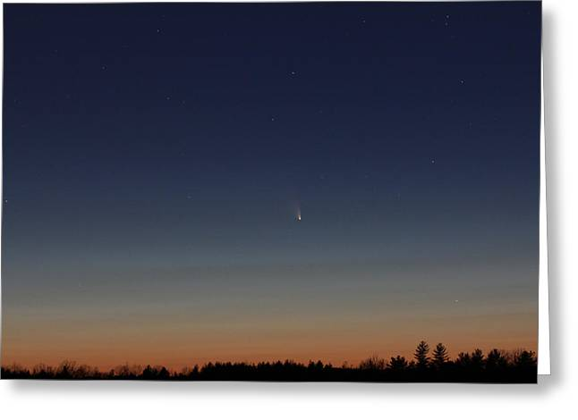 Comet Panstarrs Greeting Card