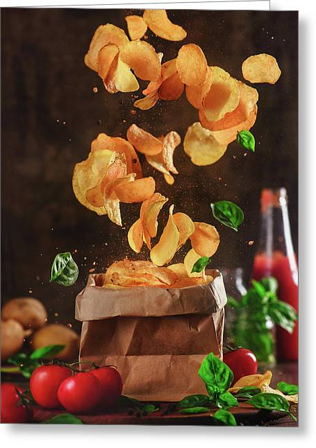 Comfort Food For Stormy Weather Greeting Card