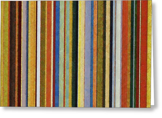 Comfortable Stripes V Greeting Card by Michelle Calkins