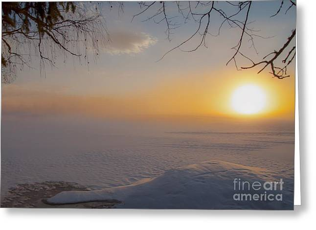 Greeting Card featuring the photograph Comfortable Winter View by Rose-Maries Pictures