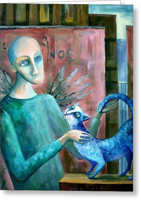 Comforter Greeting Card by Elisheva Nesis
