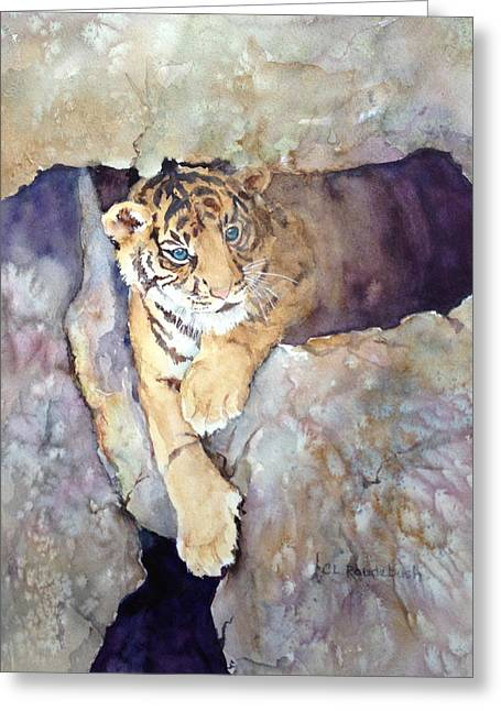 Tiger Cub Greeting Card