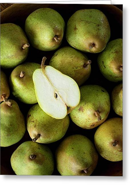 Comice Pears Greeting Card by Aberration Films Ltd