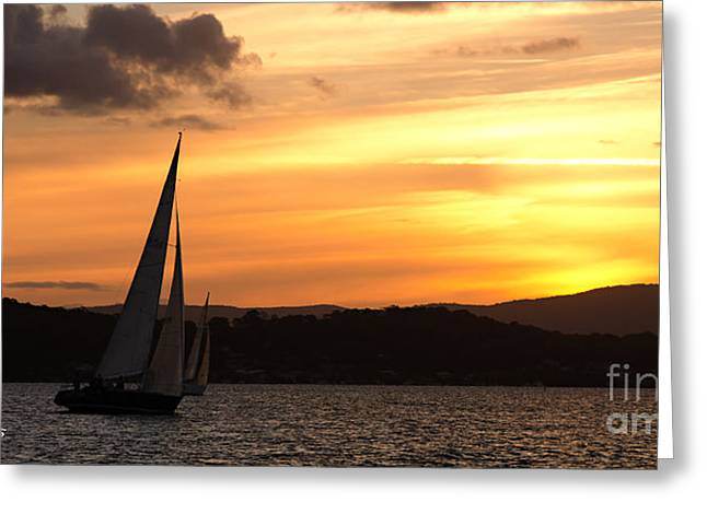 Coming Home .  Sunset Greeting Card by Geoff Childs