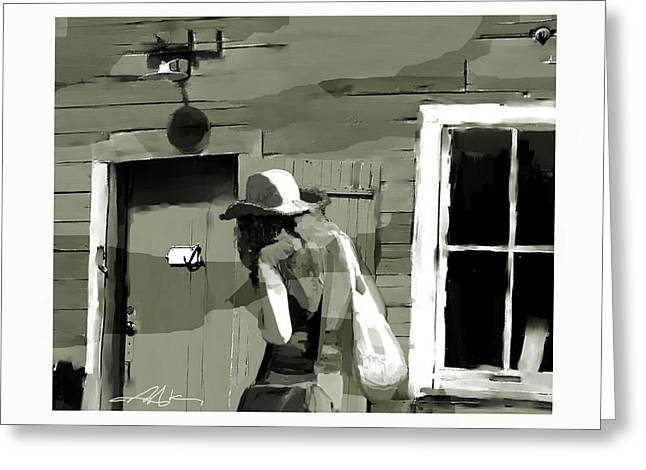 Greeting Card featuring the painting Coming Home by Bob Salo