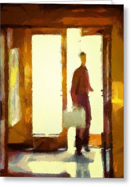 Coming In From The Sunshine Greeting Card by Gun Legler