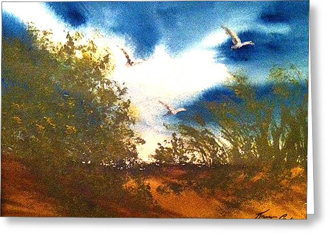 Coming Of Spring Greeting Card by Karen  Condron