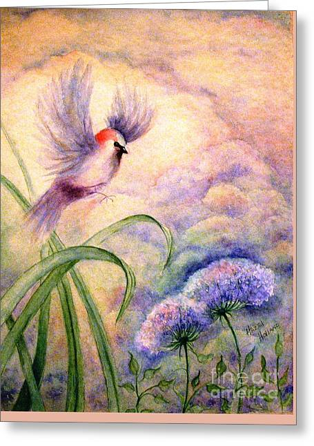 Coming To Rest Greeting Card by Hazel Holland