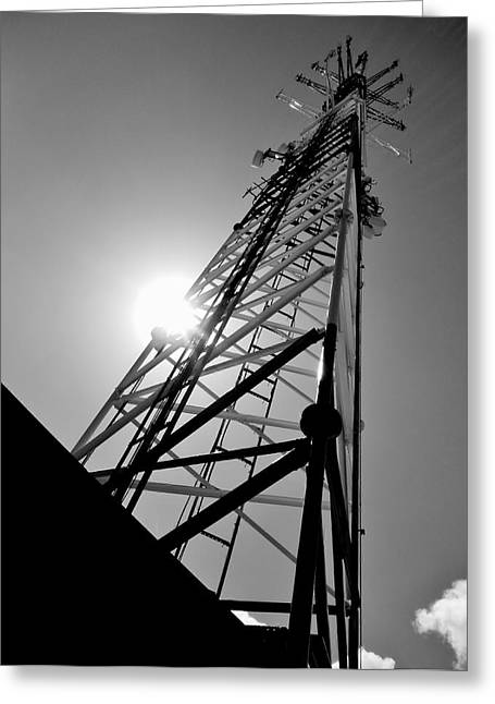 Comm Tower Greeting Card by Amar Sheow