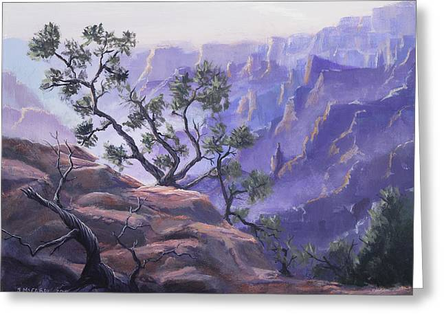 Commanding View Greeting Card by Jerry McElroy