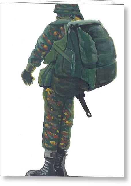 Commando 02 Greeting Card by Emmanuel Baliyanga