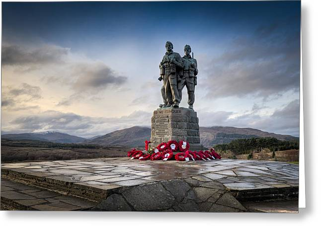 Commando Memorial At Spean Bridge Greeting Card by Gary Eason