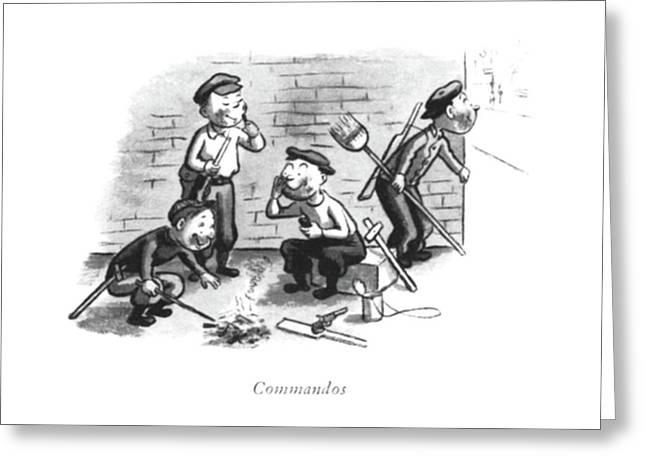 Commandos Greeting Card by William Steig