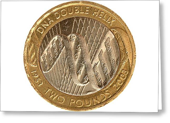 Commemorative Two Pound Coin Greeting Card by Public Health England