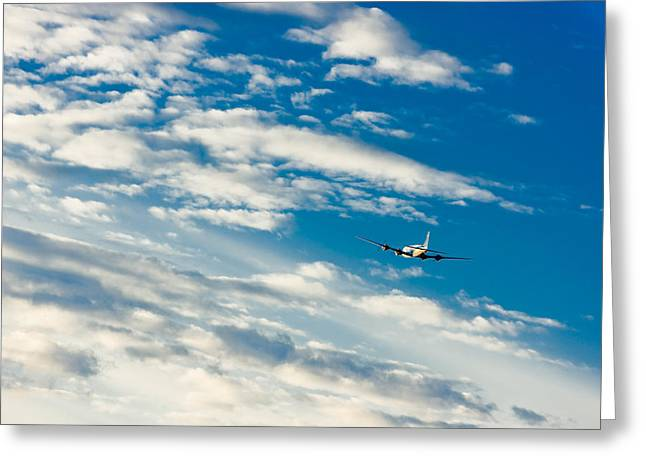 Commercial Airliner Taking Off From Ted Greeting Card by Kevin Smith