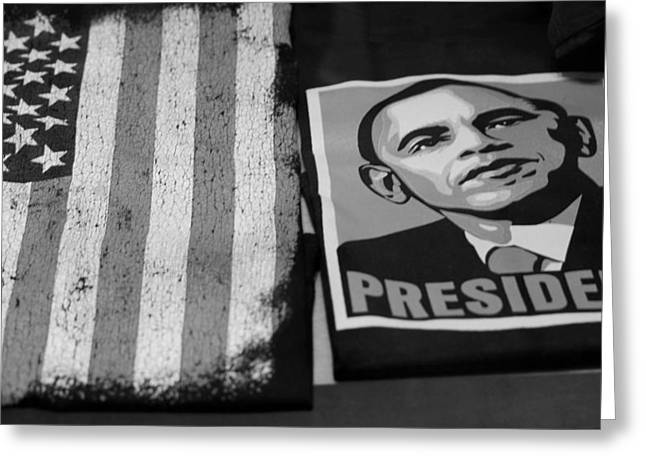 Commercialization Of The President Of The United States In Balck And White Greeting Card