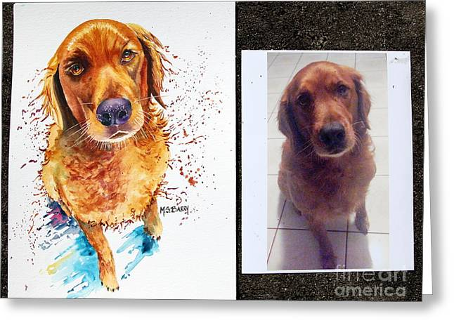 Commissioned Dog #1 Greeting Card