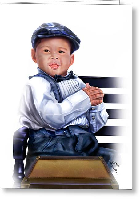 Commissioned - Handsome Baby Boy 1a Greeting Card by Reggie Duffie