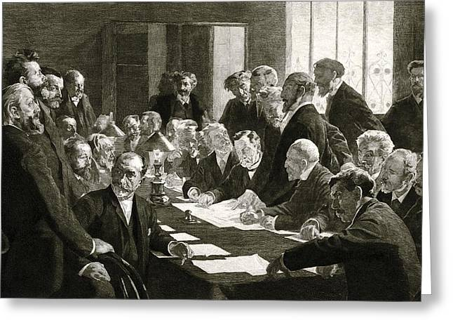 Committee For French Exhibition Of 1888 Greeting Card by Science Photo Library