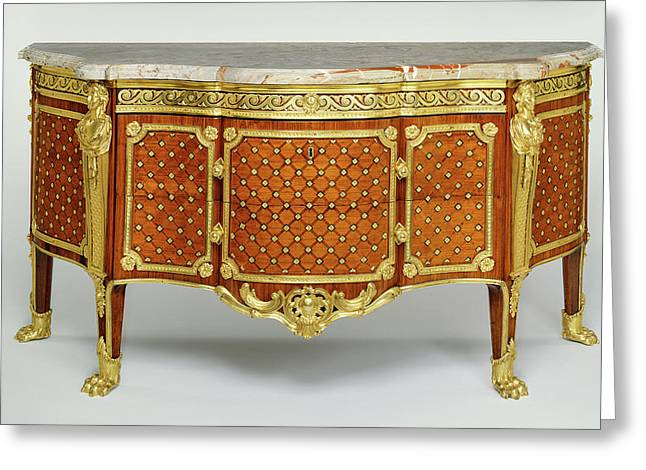 Commode Gilles Joubert, French, 1689 - 1775 Paris, France Greeting Card by Litz Collection