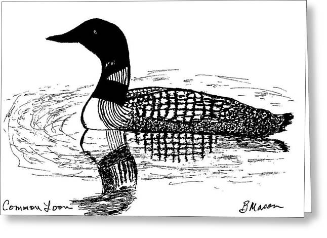 Common Loon Greeting Card by Becky Mason