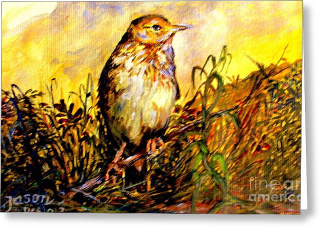 Common Pipit Greeting Card