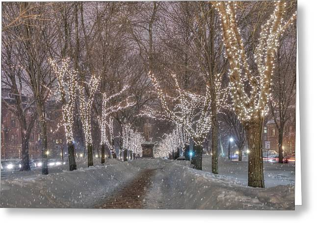 Commonwealth Ave Mall - Boston Greeting Card by Joann Vitali