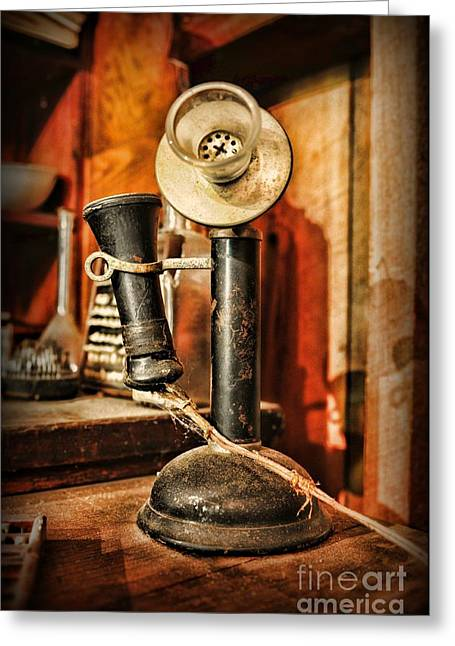 Communication - Candlestick Phone Greeting Card by Paul Ward