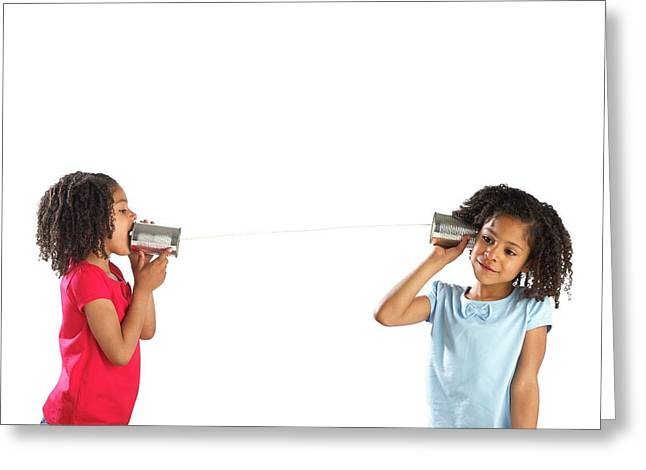 Communication Greeting Card by Science Photo Library