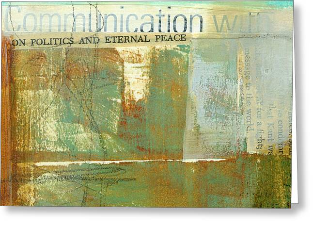 Communication With Greeting Card by Jane Davies