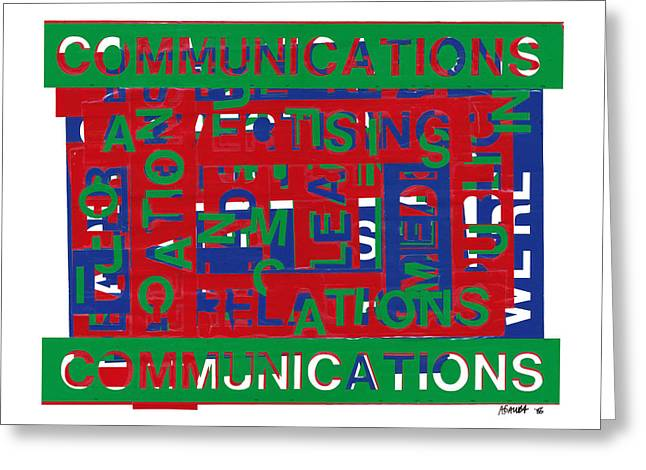 Communications Breakdown Greeting Card by Agustin Goba