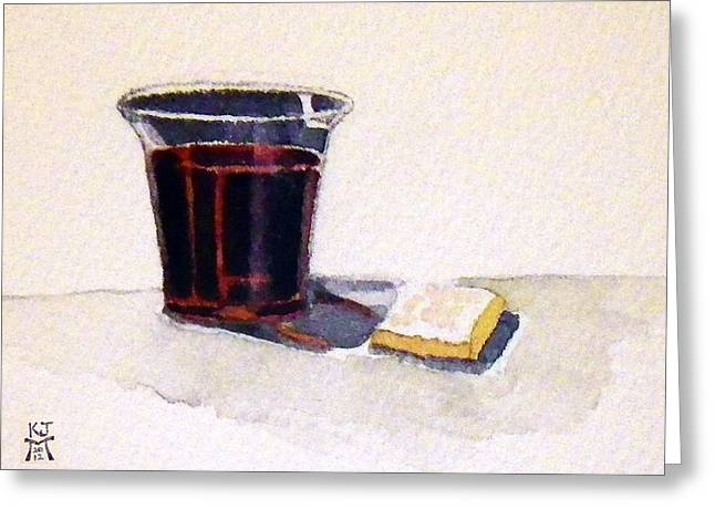 Communion Greeting Card by Katherine Miller