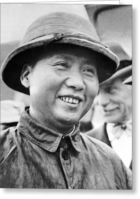 Communist Leader Mao Tse-tung Greeting Card by Underwood Archives