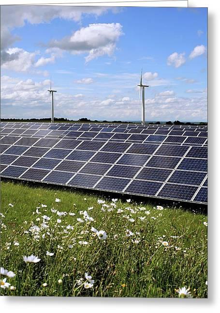 Community Owned Solar Farm Greeting Card by Martin Bond