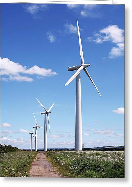 Community Owned Wind Farm Greeting Card by Martin Bond