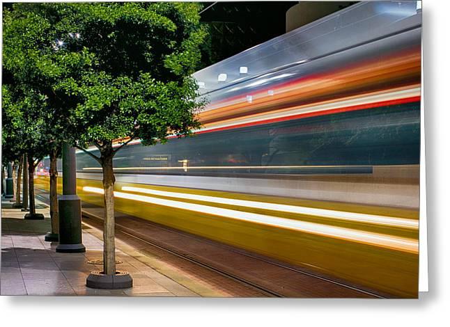 Dallas Commuter Train 052214 Greeting Card