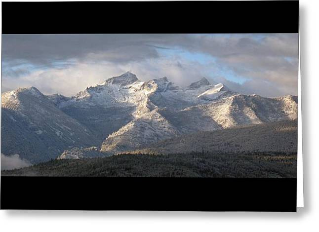 Greeting Card featuring the photograph Como Peaks Montana by Joseph J Stevens