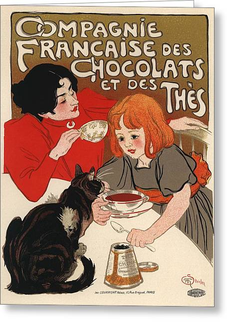 Compangnie Francaise Des Chocolats Et Des Thes Greeting Card by Gianfranco Weiss