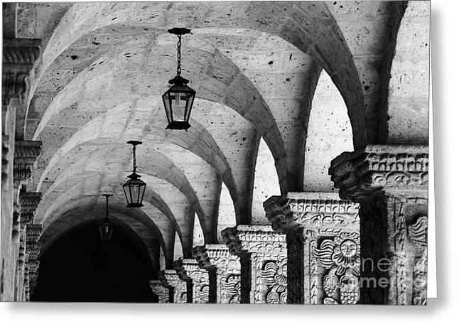 Compania De Jesus Cloisters Arequipa Greeting Card by James Brunker