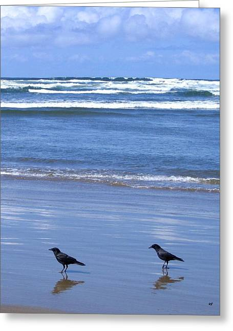 Companion Crows Greeting Card by Will Borden
