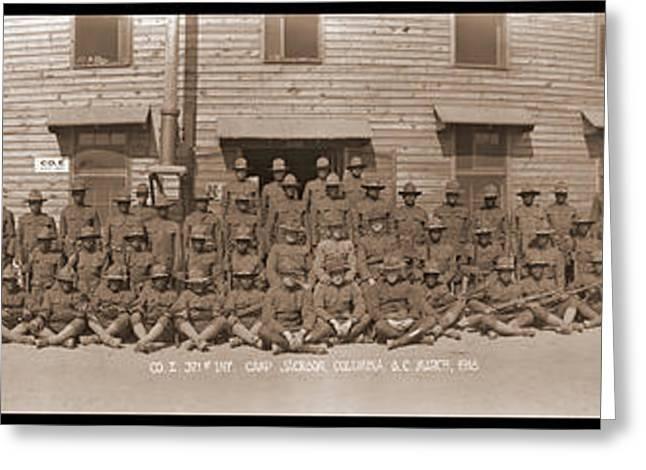 Company E. 371st Infantry Camp Jackson Greeting Card