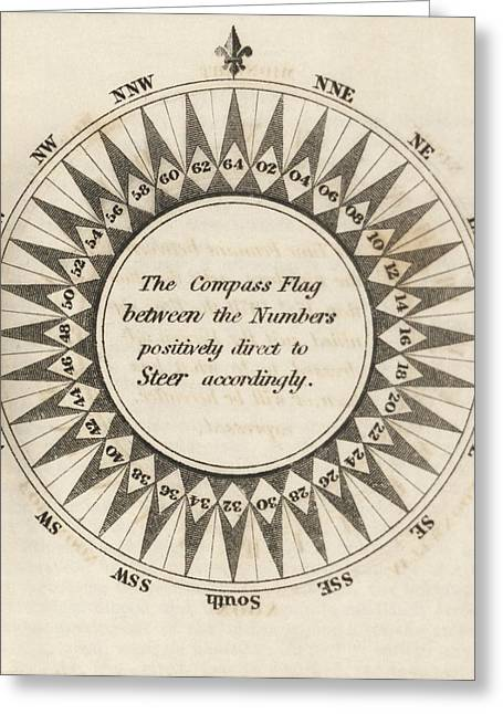 Compass For Flag Telegraphy Greeting Card