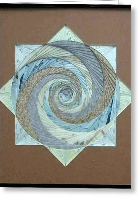Greeting Card featuring the mixed media Compass Headings by Ron Davidson