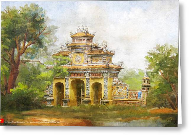 Complex Of Hue Monuments Greeting Card by Catf