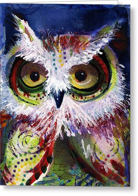 Complimentary Owl Greeting Card
