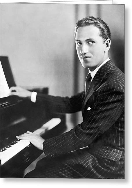 Composer George Gershwin Greeting Card by Underwood Archives