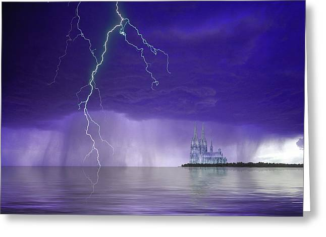 Composite Of Fantasy Cathedral Greeting Card by Jaynes Gallery