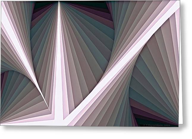 Composition 128 Greeting Card by Terry Reynoldson